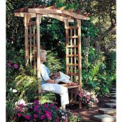 build this garden arbor with a seat in your back yard